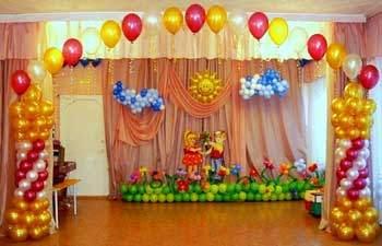 выпускной в детском саду оформление зала